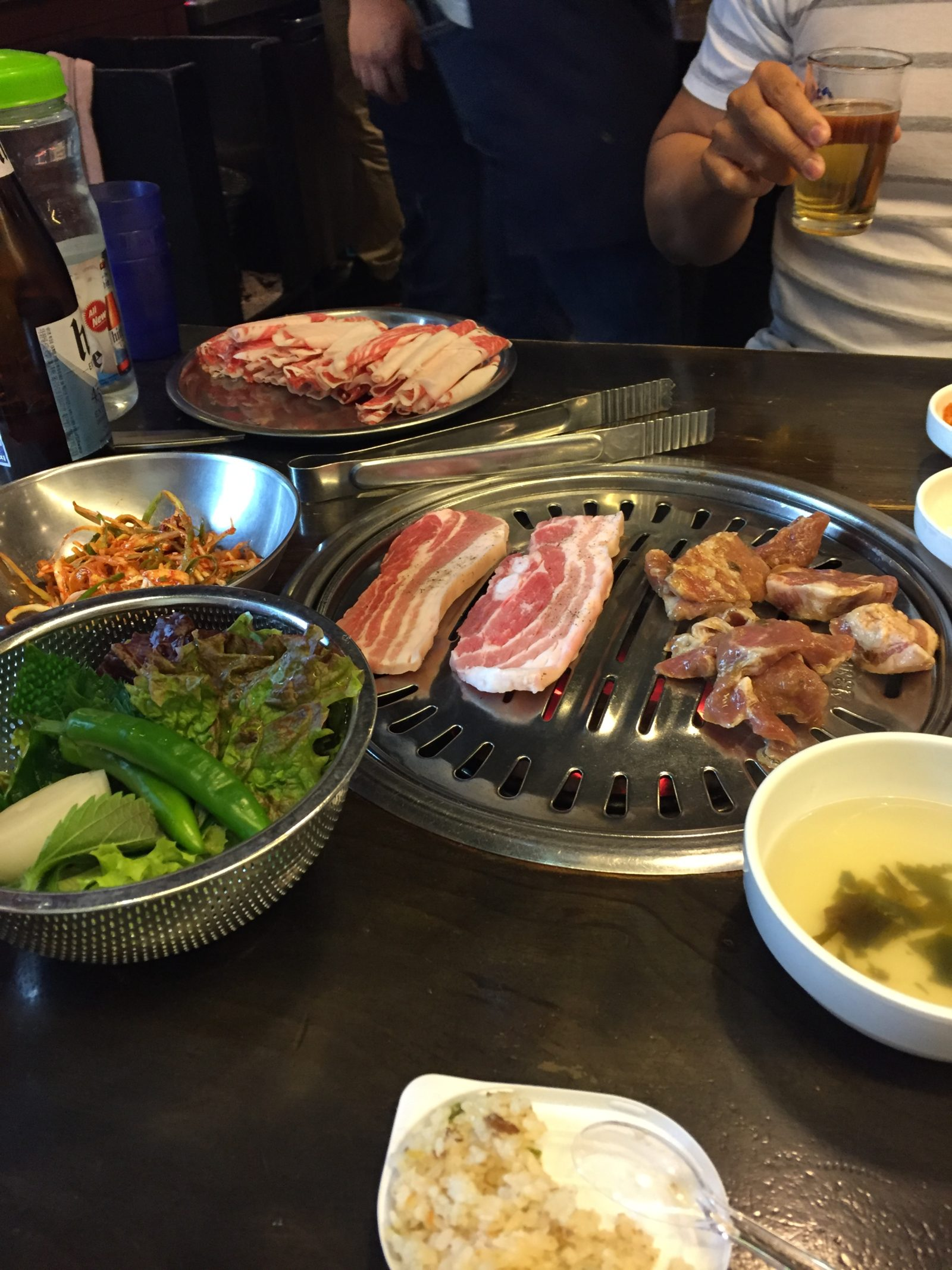 New Village – Korean BBQ | Baby Z travelling around Seoul