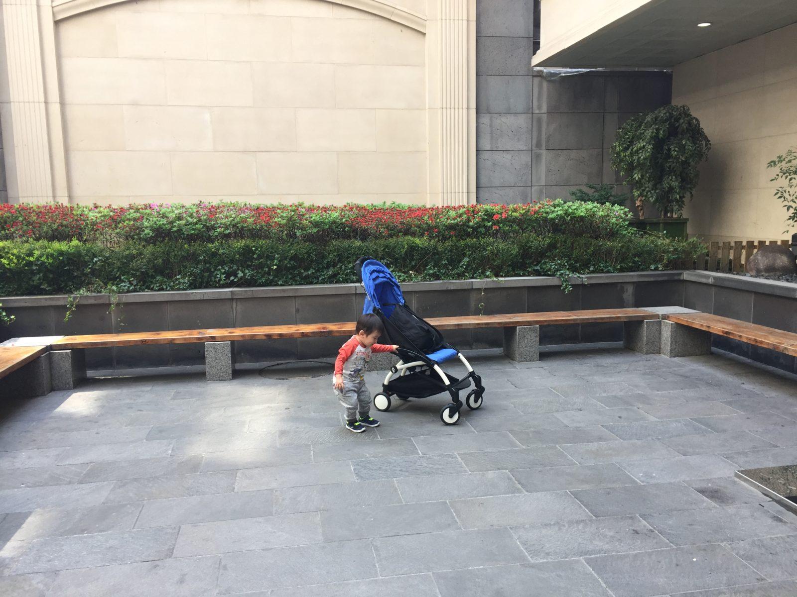 Baby Z with his Baby Zen Yoyo stroller