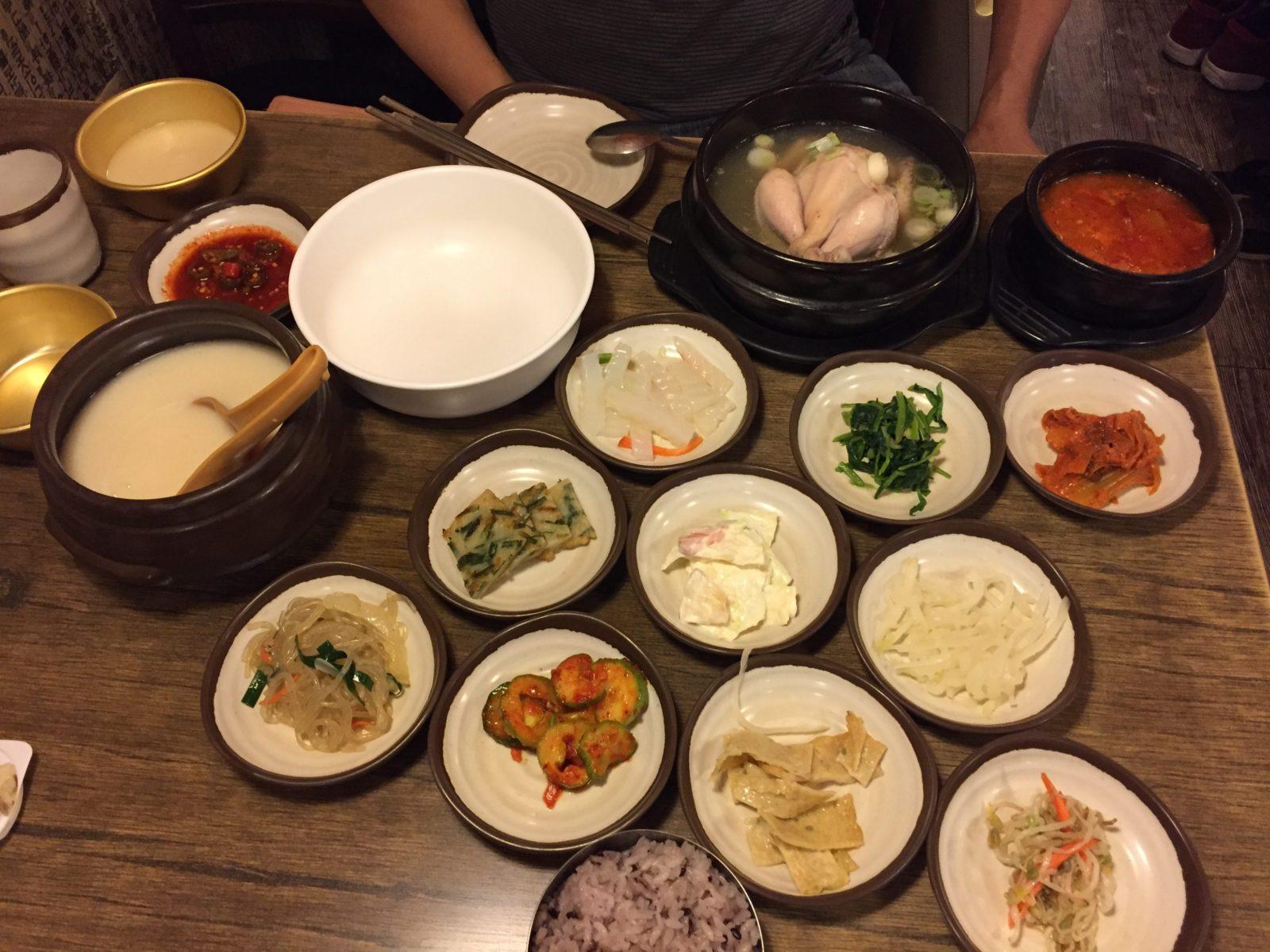 Traditional Korean Meal at Garosu-gil | Baby Z travelling around Seoul