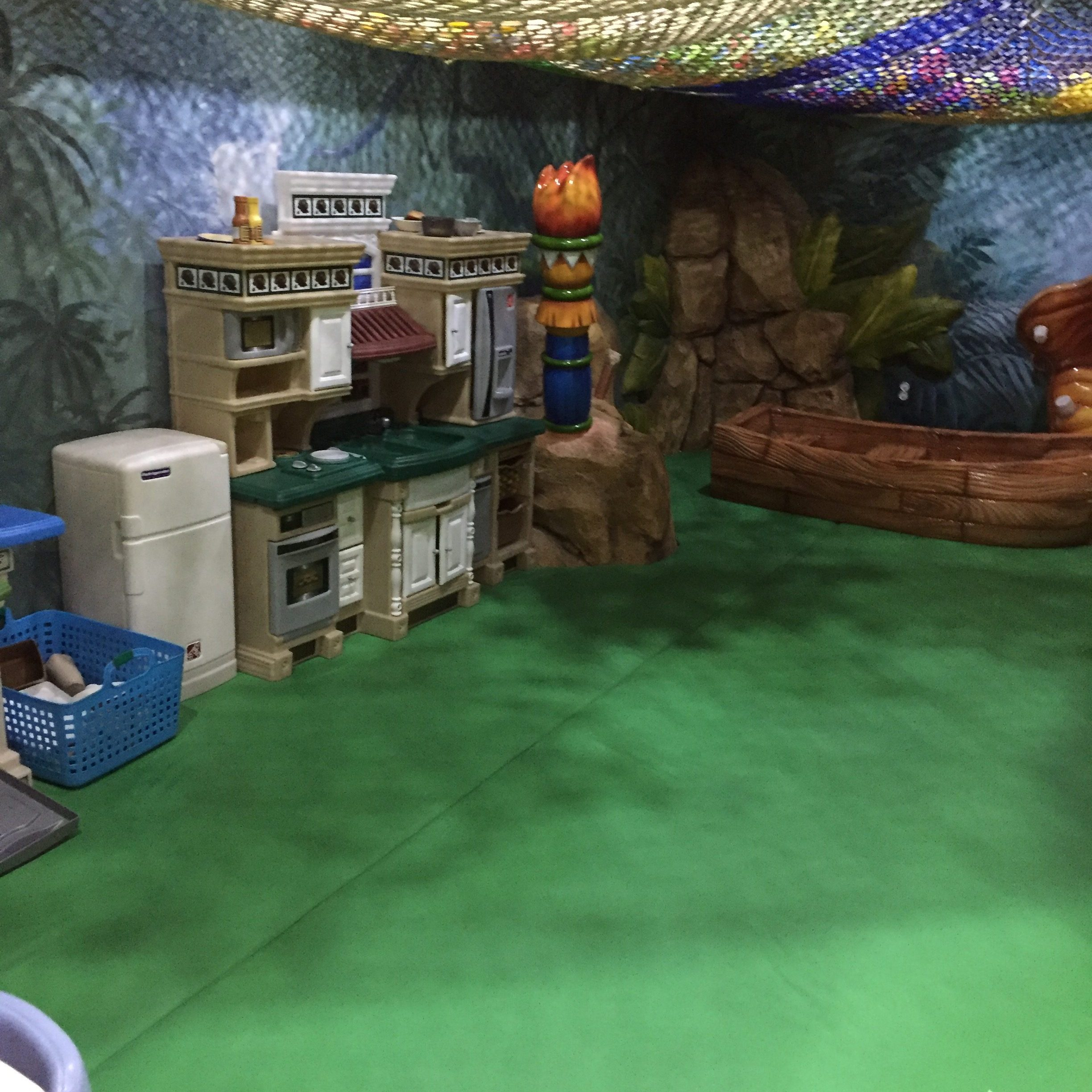 Kitchen play area at Jungle Kids Cafe