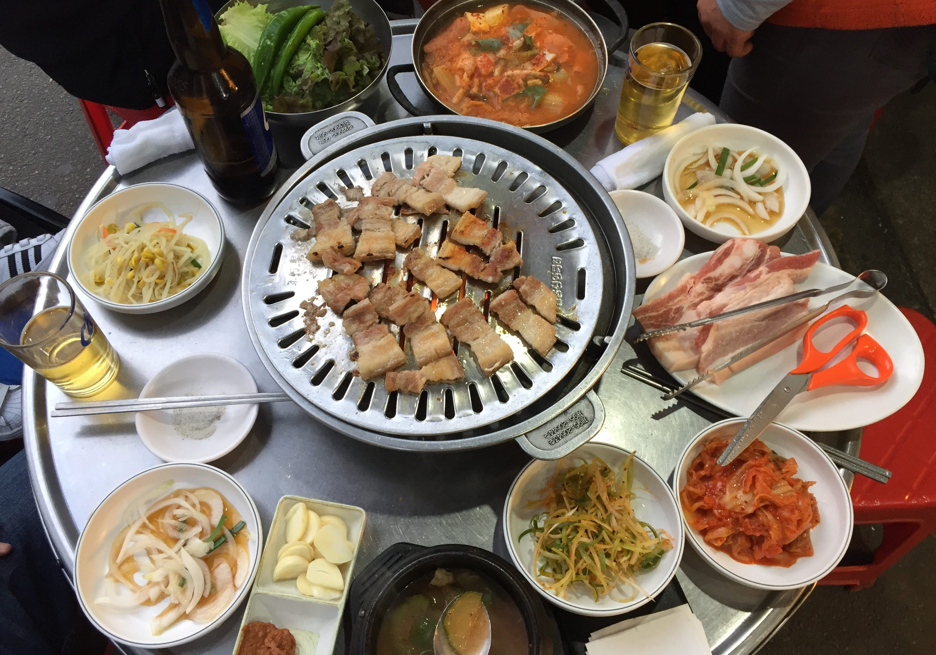 Street Korean BBQ food Seoul Namdaemun